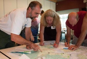 Identifying roads at the Seattle community meeting
